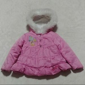 Size 2T to 3T Disney princess fur lined with hood